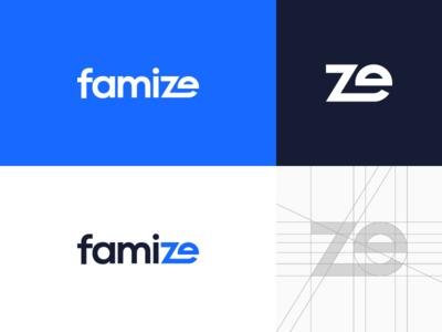 Famize minimal typogaphy wordmark lettermark design logotype minimalist brand logo
