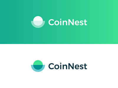 Coin Nest bitcoin crypto currency crypto modern nest save money piggy bank money coin design smart symbol minimal mark minimalist brand logo