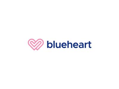 Blueheart relationship sexual connection digital love heart therapy branding design smart symbol minimal mark minimalist brand logo