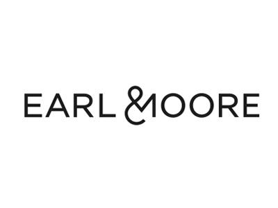 Earl & Moore Logo english typography earl ampersand tea branding logo