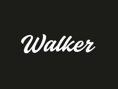 Walker Typemark logotype identity type branding logo typemark