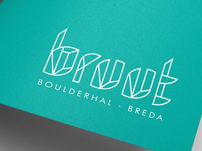 Boulderhal Bruut graphic design illustration typography typo branding logo
