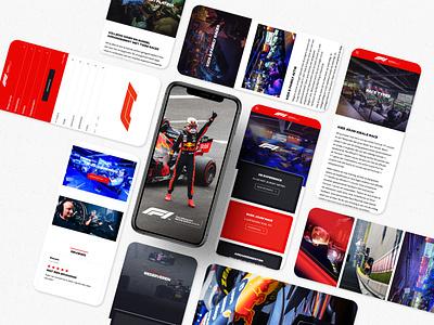 The Official F1® Racing Centre design formula one mobile design graphic design