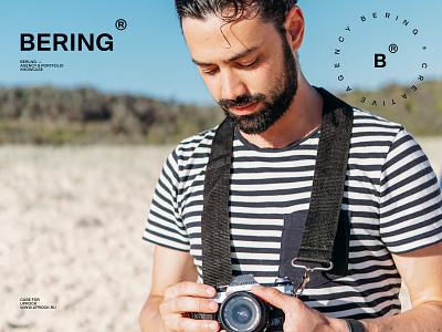 BERING - Photography Website vc virtual card personal photographer minimalism web design graphic design flat dark ui ux website branding creative modern studio portfolio photo photohraphy agency