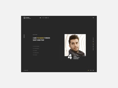 Jonny - Personal CV/Resume Website ux freelancer designer modern creative dark fullpage onepage mobile web web design website portfolio virtual card vc resume cv personal