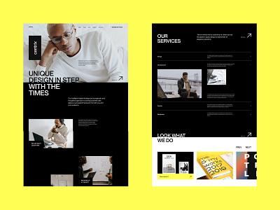 Centrix 2.0 - Agency Website graphic design animation logo branding web trend modern minimalism portfolio creative agency website web design