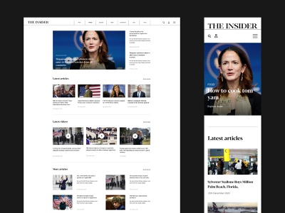 THE INSIDER - News Website catalog minimalism modern new article blog web web design law government business newspaper news