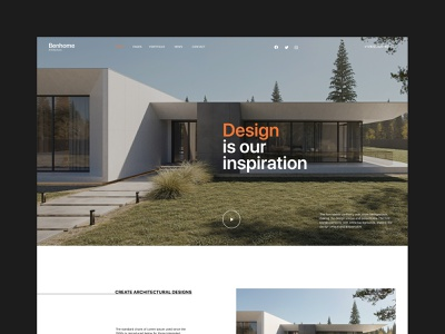 Benhome - Architecture Website company business house planing modern home real estate web web design website interior construction costructor building architect