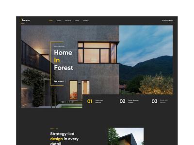 Larson - Architecture Website portfolio business hose home construction constructor building modern ui ux web website web design architect interior architecture