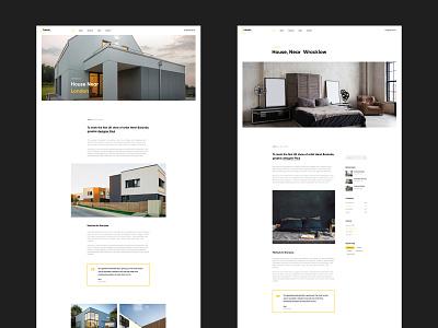 Larson - Architecture Website business light minimal parallax interior arhitect logo modern creative website design minimalism web web design branding