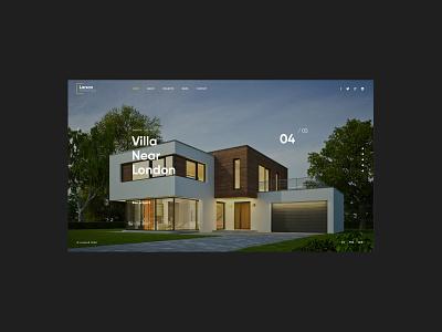Larson 2.0 - Architecture Website real estate business corporate interior architect graphic design animation logo design branding minimalism creative web website modern web design
