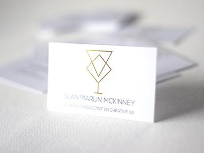 Sean Marlin McKinney Business Cards geometric minimal beer business cards print print design gold foil
