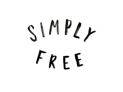 Simply Free Blog Lettering blog design hand lettering brush lettering watercolor lettering