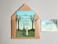 Wedding Experiment based on Anna Bonds Wedding Invites