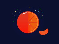 Orange's in space?
