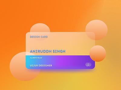 GLASSMORPHIC CARD ui ux design