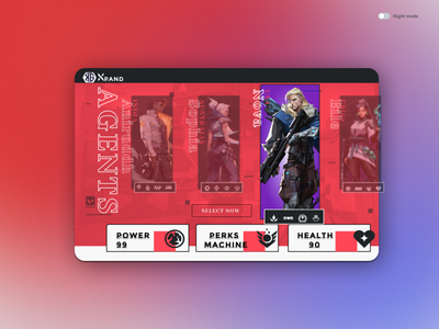 Select your character (4) illustration ui design