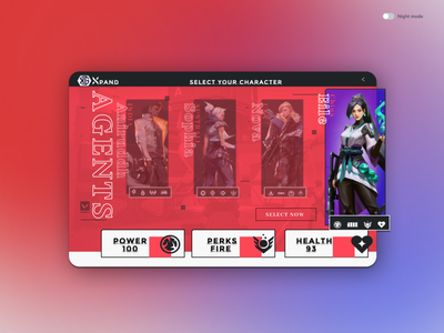 Select your character (5) illustration ui design