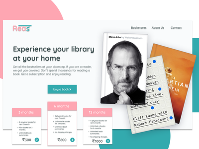 Landing Page clean website web minimal logo branding ux typography ui design