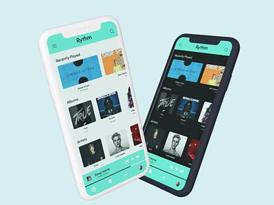 Music App app logo branding ux ui design