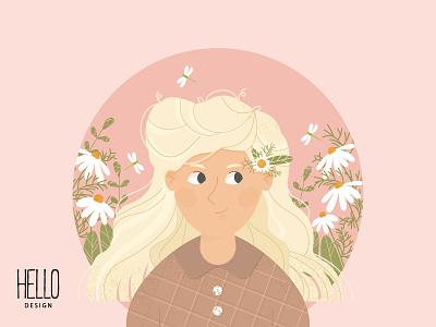 FLOWER GIRL design illustration creative art illustration design artist graphic design artwork