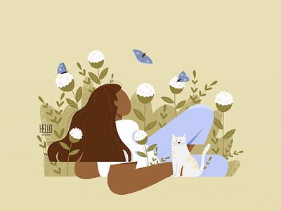 DTIYS graphic design illustration creative flowers artwork