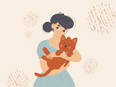 FRIENDSHIP illustration graphic design friendship cat art illustration design artist creative design artwork
