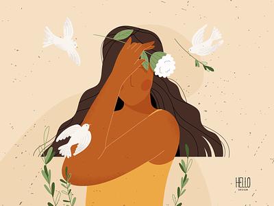 BIRDS illustration creative flowers art illustration design artist artwork