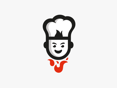 Cooking fire fire red branding logo illustration icon vector cooking