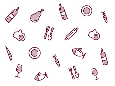 Restaurant Icons restaurant minimalism icon illustration vector