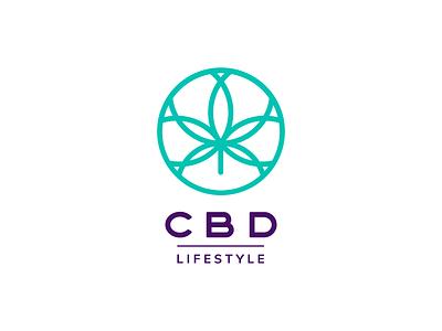 CBD Lifestyle typography branding illustrator vector cbd logo marihuana