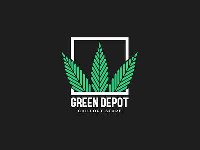 Green Depot illustree design illustrator designinspiration brandidentity branding bestvector logo minimalism icon illustration vector