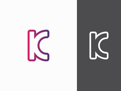 K+C logo minimal typography monogram mark symbol branding design icon identity illustration logotype logo