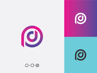 DP logo typography monogram mark symbol illustration logotype logo identity design icon branding