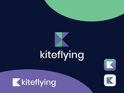 Modern K logo flat modern mark symbol monogram logotype logo illustration identity icon design branding