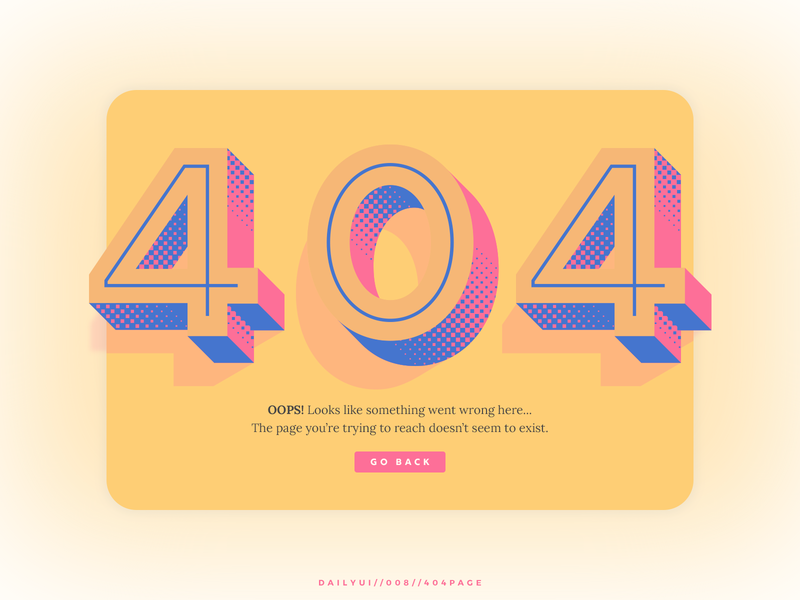 Daily UI // 008 // 404 Page 404 daily ui 008 website ux typography website design web ui daily ui