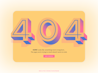 Daily UI // 008 // 404 Page