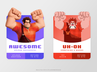Daily UI // 011 // Flash Message