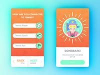 Tenistik App Screens