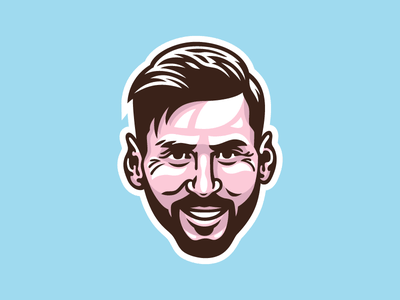 Lionel Messi face fifa soccer football portrait illustration argentina barcelona messi lionel messi