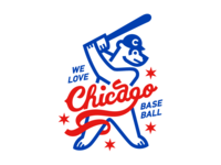 Chicago Cubs Baseball Bear