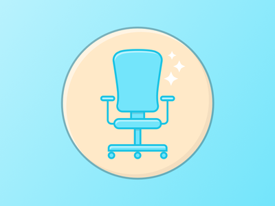 Chair badge spark office icon badge chair