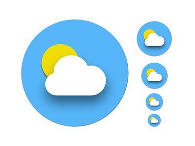 Daily UI challenge #005 — App Icon daily ui dailyui weather icon weather app icon icon