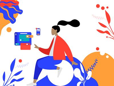 UI designer Illustration colorful app concept logo concept concept project illustration design design lover graphic design