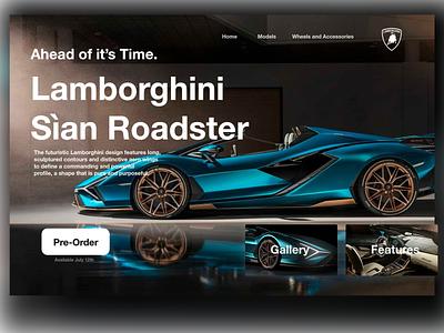 Dribbble Weekly Warm-Up |  Lamborghini page branding illustration design lover web design 3d ui design logo concept project concept app concept graphic design