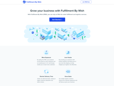 Fulfillment By Wish Splash Page