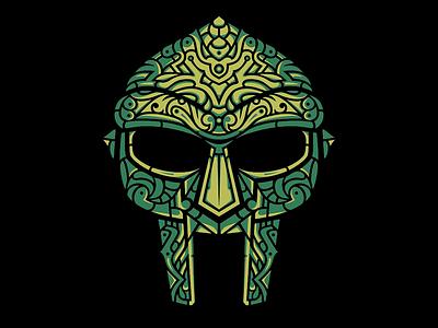 Venomous Villain Design illustration design hand-drawn vector gladiator mask mfdoom doom villain rap hip-hop
