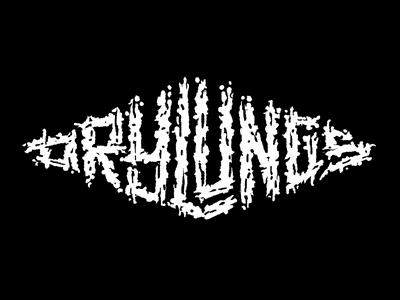 DL WIP3 logo logotype lettering grindcore music rough sketch wip