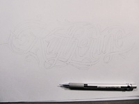 Katherine pre-ink sketch