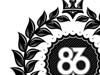 86era fancy render crop vector logotype logo grayscale 86era crop